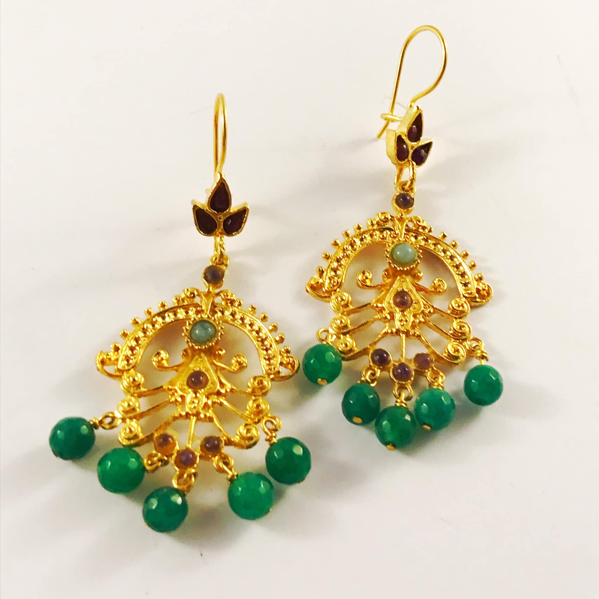 a emeralds diamonds new rose gold raw with buy jewellery earrings and emerald slice img drop arrivals